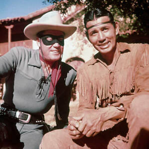 The Lone Ranger And Tonto From Hit Television Series 1950 Movie Old Photo