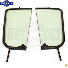 55-59 Chevy Pick Up Pickup Truck DOOR VENT Wing Window Glass w/ Black Frame PR
