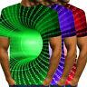 Mens 3D Printed Summer Casual Short Sleeve T Shirts Tees Shirts Blouse Plus Size