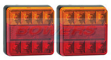 2x LED AUTOLAMPS 101BAR SQUARE 12V REAR TRAILER STOP TAIL INDICATOR LAMPS LIGHTS