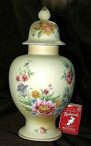 Vintage Asian Satin Glass GINGER JAR BOTTLE Norleans ? Exclusively HALL JAPAN