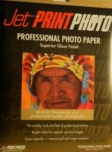"Jet-Print Superior Gloss Photo Paper-15 Sheets 8.5x11""Inches :NEW: FAST Ship OUT"