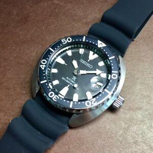 SEIKO Prospex MINI Turtle SRPC37K1 Automatic 200m Diver Black Resin