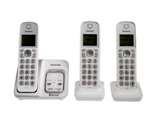 PANASONIC KX-TG833 LINK2CELL BLUETOOTH CORDLESS PHONE W/ VOICE ASSIST 3 HANDSETS