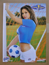 Miller Lite Soccer Goal Girl Beer Poster