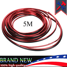 Red 5M Car Interior Door Gap Edge Line Molding Trim Strip Deco Accessory for BMW