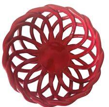 Modern Farmhouse 7-Inch Braided Bread Basket Red EUC