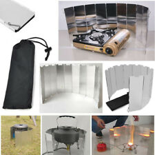 10 Plates Foldable Outdoor Camping Picnic Gas Stove Wind Shield Screen Cookers