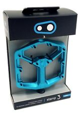 Crank Brothers Stamp 3 Pedals, Large, Electric Blue