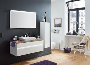 Puris Badmöbel-Set UNIQUE 01 - 122 cm mit Keramik-Aufsatzbecken Connect Air TOP