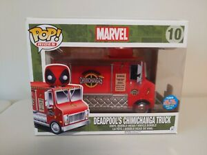 NYCC 2015 Funko Pop! Rides #10 Deadpool's Chimichanga Truck Red Exclusive