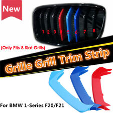 3 Tricolor Sport Grill Grille Strip Cover Trim For BMW M 1 Series F20/F21