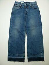 Pepe Patti RRP £79 Capri Blue High Waist Loose Leg Jeans Size 6-8 W24 L 24 Crop