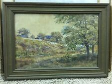 Original Edward Sitzman Watercolor Painting Indiana Ohio Artist Landscape
