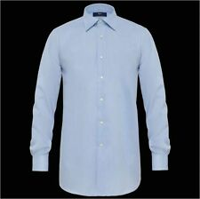 Camicia classica uomo business Ingram celeste Cotone No Stiro taglia 44 XL SALDI