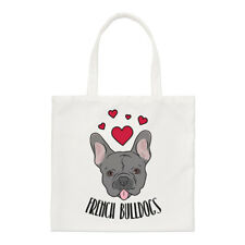 Love French Bulldogs Small Tote Bag - Dogs Dog Puppy Funny Shoulder