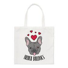 Love francese Bulldogs Small Tote Bag-CANI DOG PUPPY FUNNY spalla