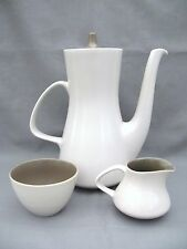 A Poole Twintone coffee set - in beige - super stylish - large coffee pot