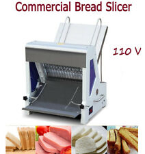 Commercial Heavy Duty Automatic Electric Bread Slicer Toast Slicing Machine 110V