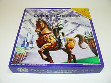 RARE DOUBLES CHECKERS BOARD GAME FOR PARTNERS MULTI-PLAYER STRATEGY GAME 2,3,4