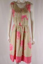 Cooper by Trelise NZ Designer Sun City Buena Vista Pink Beige Silk Dress Sz 8