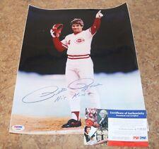 "Pete Rose ""Hit King"" Cincinnati Reds signed 11x14 Color Photo PSA DNA w/ COA"