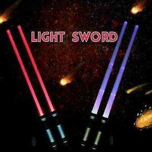 2PCS Lightsaber Led Flashing Light Saber Sword ,Kids Toy Double Cosplay Tool AU