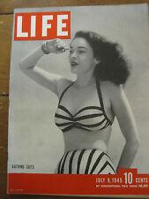 LIFE July 9 1945 Iwo Jima, UN Charter, Queen Elizabeth, Queen Mary, Roxbury PYLE