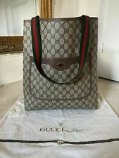 100% AUTHENTIC Vintage Gucci 80's Ophidia Accessory Collection Tote Shopper Bag