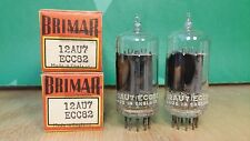 Pair of Brimar 12AU7 ECC82 Clear Top NOS NIB Vacuum Tubes - 10% matched