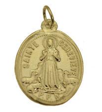 Saint Genevieve Patroness St. of Paris 24K Yellow Gold Pltd charm medal Jewelry