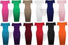 Calf Length Patternless Tunic Dresses for Women