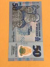 Nigeria Paper Money - Unc 50 Niara Polymer Note