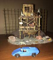 Vintage Tootsie Toy Blue Fiat Abarth Die Cast Metal Car USA Good paint