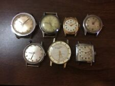 REPAIR Lot of 7 Mens Vintage Mechanical Watches - Timex Wolbrook Imperial & More