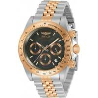 Invicta Men's Watch Speedway Chronograph Black and Rose Gold Dial Bracelet 30993