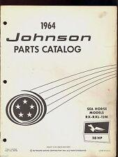 1964 JOHNSON 28HP RX-RXL-12M OUTBOARD MOTOR PARTS MANUAL  / 380048