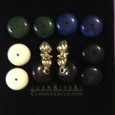 JOAN RIVERS COLLECTION MULTI-COLOR CHANGEABLE DISC WARDROBE CLIP-ON EARRING SET