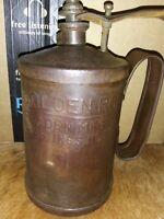 Vintage F. Jaden Mfg Co Golden Rod Oil Can Hastings, Nebraska One Quart