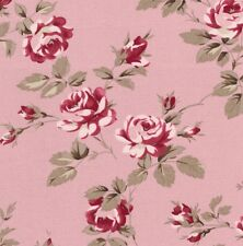 Tanya Whelan Scattered Roses on Pink Home Décor Cotton Fabric - V Large FQ