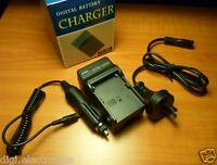 Battery Charger for SONY Camcorder F970 NP-F960 F500 F550 F330 AC + Car Adapter
