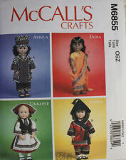 "18"" GIRL DOLL COSTUME/CLOTHES McCall's Pattern 6855/P324 American Made NEW"