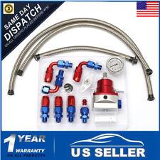 Universal Adjustable Fuel Pressure Regulator Kit 160PSI Oil Gauge AN 6 Fitting