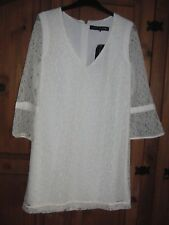 Beautiful ladies cream lace dress from French Connection Size 12 loose fit New