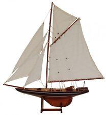 Batela Grande Modello Barca Columbio Blu di Legno - Finito Bootsmodell