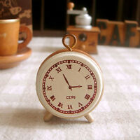 Great Wooden Rubber Stamp Seal Classic Alarm Clock For Diary Scrapbook Decor CA