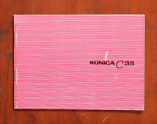 Konica C35 Instruction Book/116974