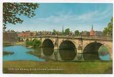 "Postcard  "" English Bridge, River Severn, Shrewsbury "".  Not posted."