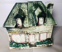Vtg McCoy Cookie House English Country Cottage Cookie Jar Planter 1950s Kitchen