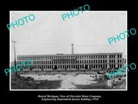 OLD LARGE HISTORIC PHOTO OF DETROIT MICHIGAN, THE CHEVROLET MOTOR CAR Co c1910